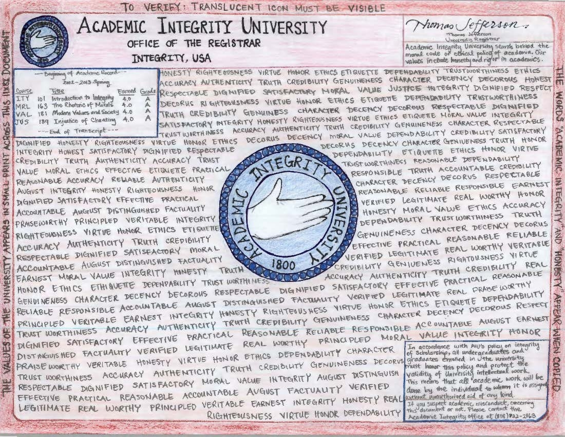 Miranda's Academic Integrity University